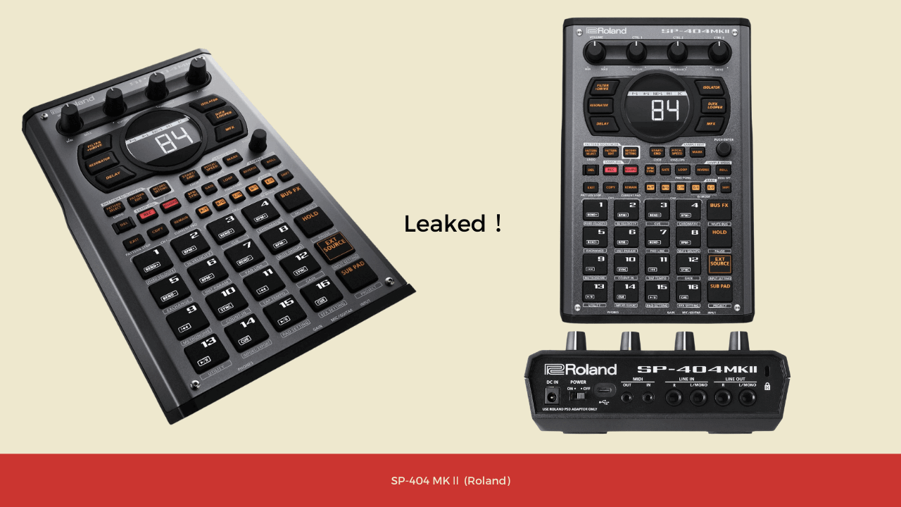 SP404 MK2が来年リリース?DJモードやcassette sim、ベロシティティ搭載、USB-C、MP3採用、内部メモリ16GBなど。